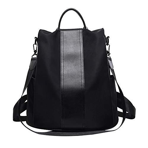 Schoolbag Nero Tempo Libero Di Poliuretano Oxford Scuola In Ladies Tessuto Da Il Borsa Donna Studente Ragazze Per Moda Casual Viaggio Zaino wyO0mN8nv