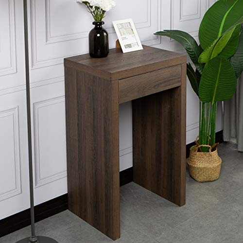 DlandHome Small Wooden Desk with Drawer, 19.7 inch Home Table/Writing Table/End Table/Console Table/Entryway Side Table…
