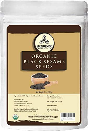 Organic Black Sesame Seed (2lb) by Naturevibe Botanicals, Gluten-Free & Non-GMO (32 ounces)