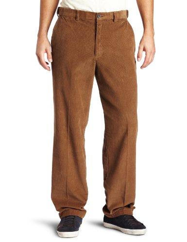 Pants Wale Corduroy 14 (Haggar Mens Work To Weekend Hidden Expandable Waist Corduroy Plain Front Pant, Carmel,34x30)
