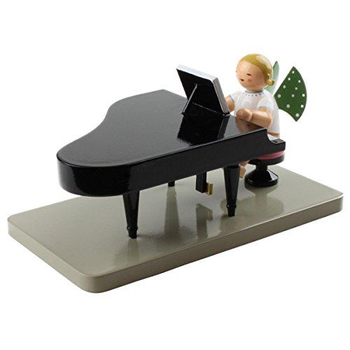 Wendt & Kuhn Blonde Hand Painted Grunhainichen Blonde Angel Grand Piano Figurine Closed
