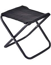 كرسي تخييم قابل للطي، مناسب للصيد والنزهات والمخيمات الخارجية وديكور الحدائق الخارجي، قماش والومنيوم خفيف الوزن محمول من تريمبوفبر - اسود