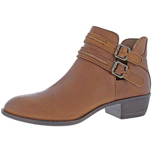 Cut Heel Ankle Cognac Diba Out Women's Boots Leather Stacked Love Bug qaZwBZIUP