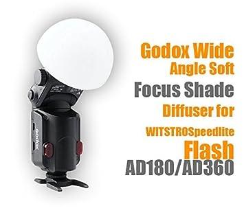 Godox AD-S17 Light Diffuser Dome Wide Angle Soft Focus Shade Diffuser for Godox Ad180 Ad360 Speedlite TM Wide Angle diffuser,Y/&M