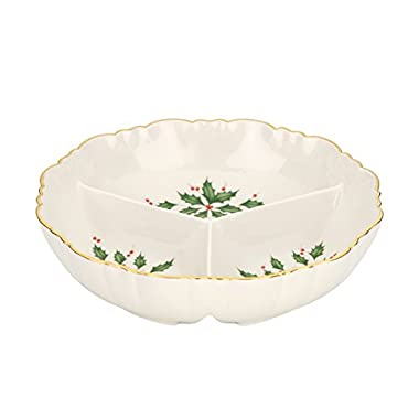 Lenox Holiday Divided Server,Ivory