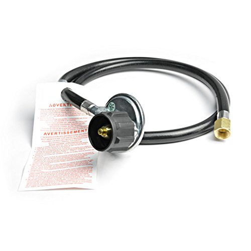 """Stanbroil 4FT QCC1 Right Angle Low Pressure Propane Hose and Regulator for LP Gas Grill, Heater and Fire Pit, 3/8"""" Female Flare x ACME Nut"""