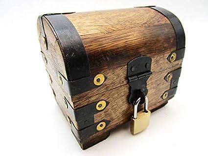Marron IBK 11,5x8,5x10 Holzspielzeug-Tom BGS Grande bo/îte /à tr/ésors avec Cadenas et Coffre au tr/ésor en Bois Cadeau de Mariage Anniversaire verrouillable avec Couvercle