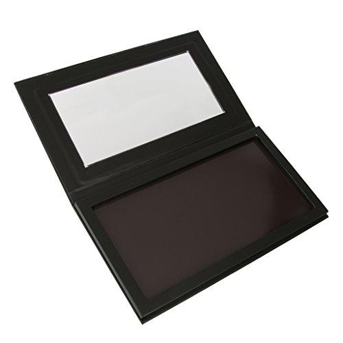 Leer Magnetische Lidschatten-Palette Make-up Kosmetische DIY Palette Matt Schwarz