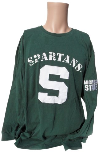 NCAA Michigan State Spartans Men's Long Sleeve T-Shirt, X-Large, Green/White