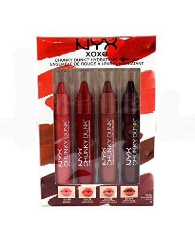 Nyx Cosmetics 2014 Limited Xoxo - 4pcs Chunky Dunk Lippie Set by N/A