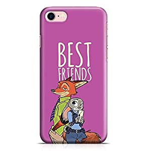 Loud Universe Zootopia Friends iPhone 8 Case Fox and Rabbit Nick and LT judy iPhone 8 Cover with 3d Wrap around Edges