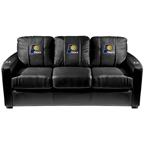 XZipit NBA Silver Sofa with Indiana Pacers Logo Panel, Black