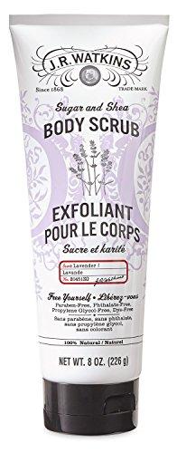 J.R. Watkins Sugar & Shea Body Scrub, Lavender, 8 - Lotion Lavender Skin Glow Almond