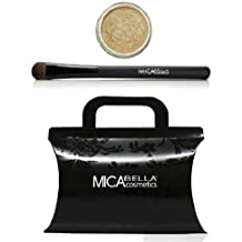 "Mica Beauty Bundle 2 Items : Mineral Eye Shadows #100 ""Ambivalence"" + Oval Eye Brush"