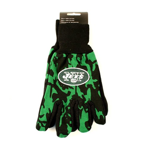 McArthur New York Jets Team Color Camouflage Utility Grip Gloves