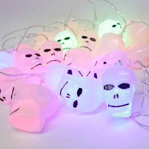 Moonvvin Halloween Decorative Lights, 10 LED Hanging Halloween Decor Pumpkin Ghost Spider Skull LED String Lights Lanterns Lamp for Christmas Halloween Wedding and Party Decoration -