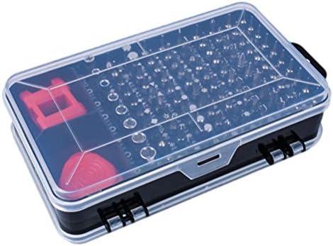 Vosarea 1で112ドライバーセット磁気ドライバーキットプロフェッショナル多機能修理ツールコンビネーションドライバービットセット電話時計ラップトップタブレット(黒)