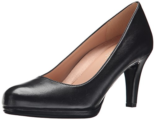 Naturalizer Women's Michelle Dress Pump, Black Leather, 6.5 W US