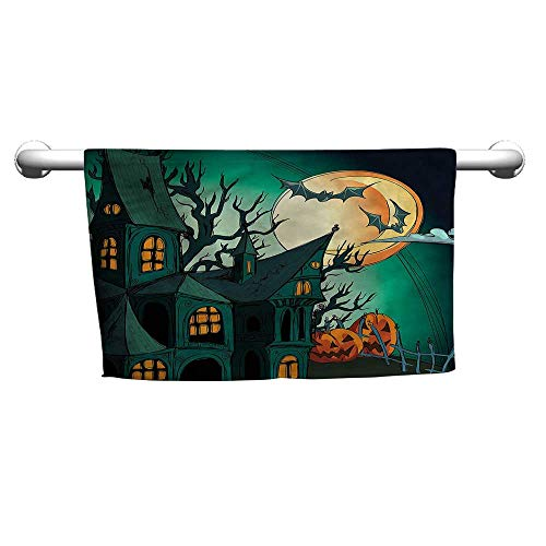 Flowered Halloween,Halloween Haunted Castle,Head Towel Wraps for Women -