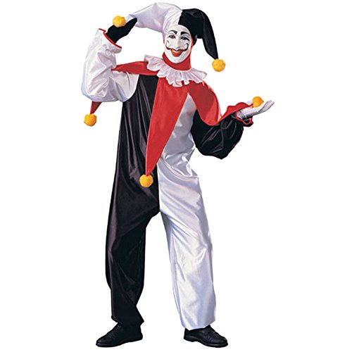 Jester Costumes Ideas (Honeystore Unisex Black and White Scary Clown Halloween Jester Costume for Adult)