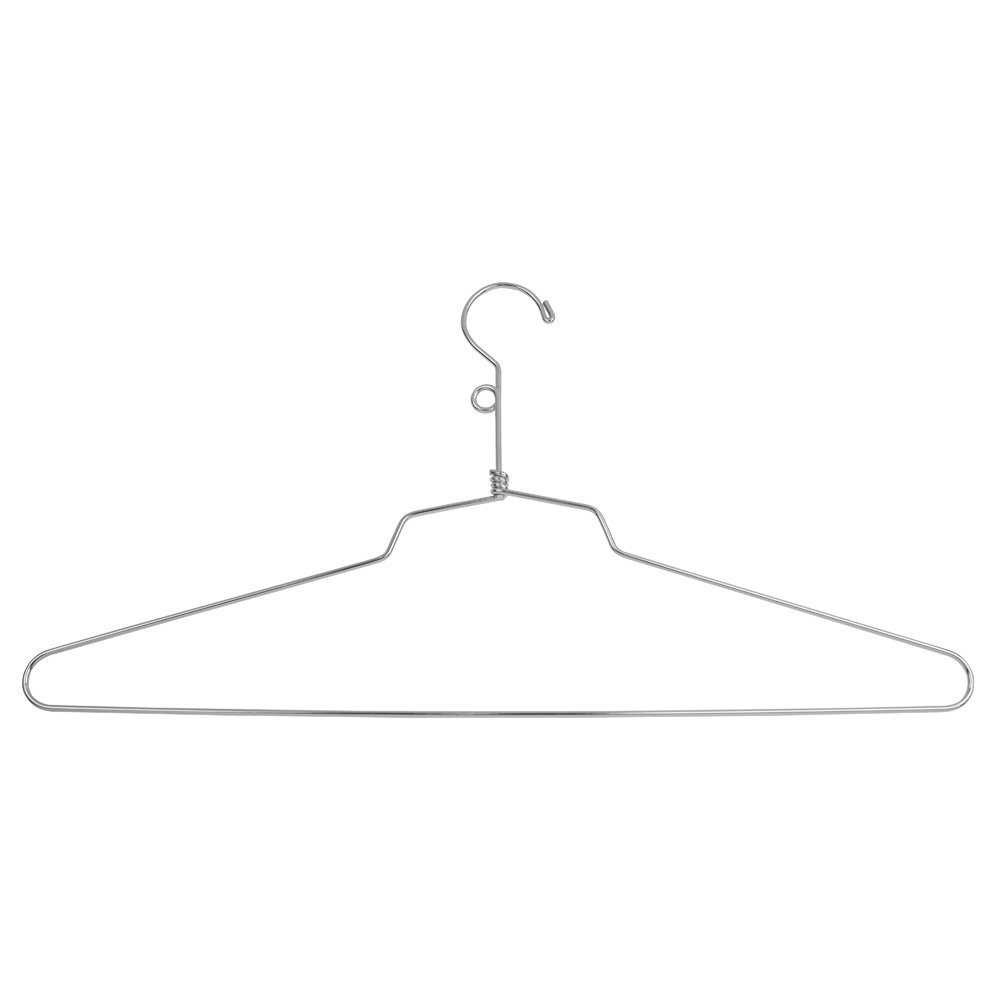 Econoco Commercial Blouse and Dress Hanger with Loop Hook, Steel, 18'' (Pack of 100)