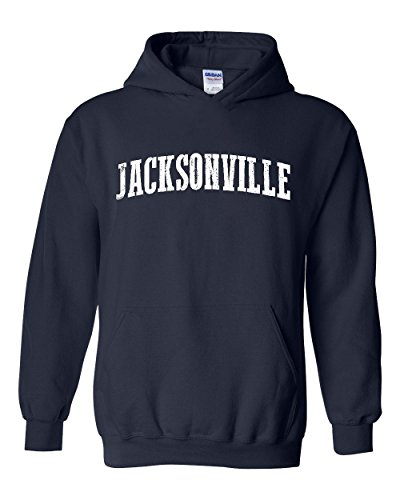 Mom`s Favorite Jacksonville Florida State Flag Home of Miami Orlando Unisex Hoodie (SNB) Navy Blue ()