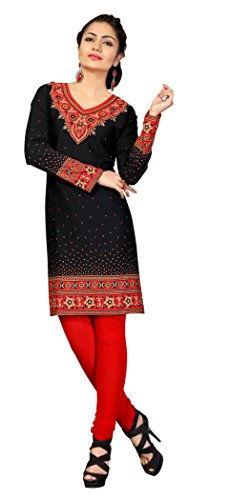 Indian Tunic Top Womens Kurti Printed Blouse India Clothing – Small, L 134