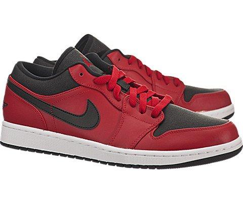 Nike Jordan Men's Air Jordan 1 Low Gym Red/Black/White Basketball Shoe 10.5 Men US