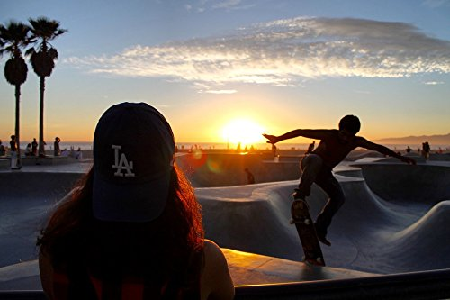 Guy Skateboarding - Home Comforts LAMINATED POSTER Guy Girl Man Sport Game People Skateboarding Poster 24x16 Adhesive Decal