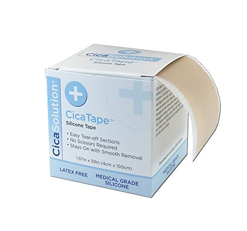 CicaTape Soft Silicone Tape (1.57in x 59in) (Silicone Pads For Scars)