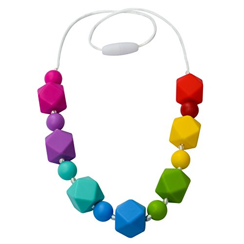 Munchables Sensory Chew Necklace - Rainbow Geo