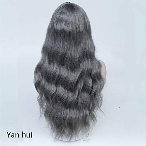 Kinky Curly Green Blue Pink Cosplay Wigs Women Long Synthetic Hair Costume For -