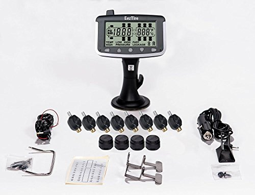 EEZTire Tire Pressure Monitoring System - 12 Mixed Sensor (TPMS) - FREE U.S. SHIPPING AT CHECK OUT