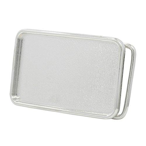 Silver Buckle (Buckle Rage Rectangle Blank Custom Belt Buckle Small)