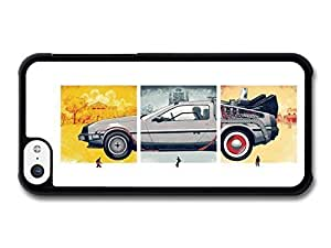 MMZ DIY PHONE CASEAMAF ? Accessories Back to the Future Movie Marty McFly with Delorian Illustration case for iphone 6 plus 5.5 inch