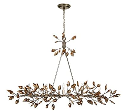 Zeev Lighting 5 Light Misthaven Chandelier, 50u0026quot; L X 33u0026quot; H, Silver