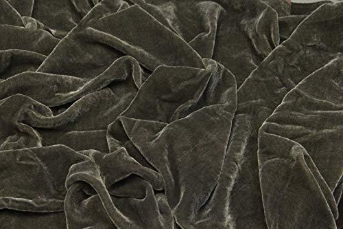 "Espresso Brown Plush Silk Velvet Upholstery Apparel Fabric - BTY - 44"" / 45"""