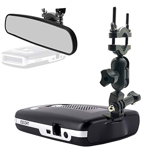 AccessoryBasics Car Rear View Mirror Radar Detector Mount for Escort Passport Max / Max2 / Max 2 / Max II / Max360 (NOT Compatible with MAX360C Magnetic Cradle Radar)