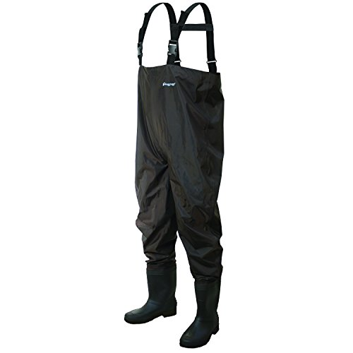 Frogg toggs rana ii pvc felt chest wader size 8 dark brown for Fishing waders on sale