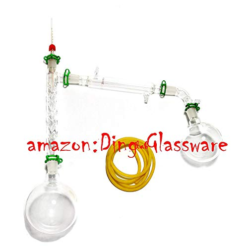 Dinglab,1000ml Chemistry Lab Distillation Apparatus,Vigreux Column,Vacuum Kit,24/40