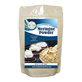 Judee's Meringue Powder Mix (11.4 Oz): Make Cookies, Pies, and Royal Icing. Complete Mix: Just Add Water. USA Made in a… 1 Complete Mix Just Add Water to make your favorite Meringue Cookies, Pies, and Frosting. Superfine Sugar included Clean label of ingredients, no preservatives, compare our label to other meringues Package makes 45 meringue cookies (see directions below); compare the value of our mix to others