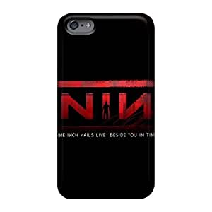 Shock-Absorbing Hard Phone Cover For Apple Iphone 6s (YWJ1897juYe) Customized Realistic Nine Inch Nails Band Skin