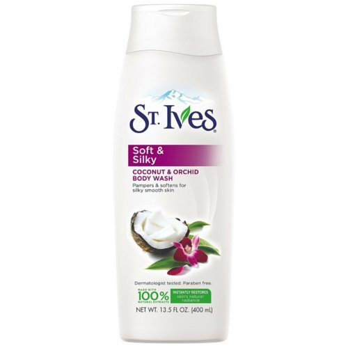 St. Ives Soft and Silky Body Wash, Coconut and Orchid 13.5 oz (Pack of ()