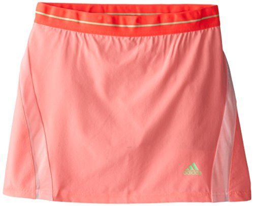 adidas Performance Girls Adizero Skort, X-Large, Light Flash Red S15/Light Flash Green S15 (Adidas Striped Skirt)