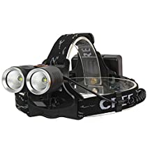 Heng Heng - 1200LM 8W High Power CREE Two Dual Head R2 LED Bicycle Bike Light Head Lamp 2 in 1 - HNG-BG-000605