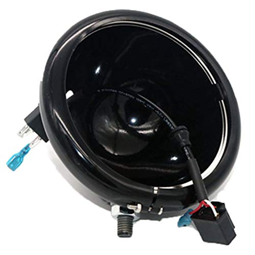 - SKUNTUGUANG Black 5.75 Inch LED Headlight Housing Bucket for Harley Davidson