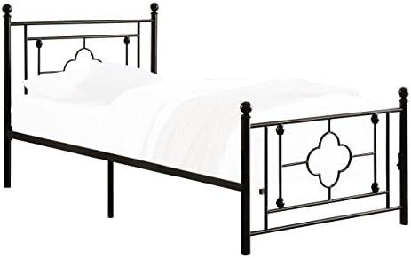 Homelegance Morris Metal Platform Bed, Twin, Black