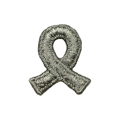Light Gray Mental Illness Awareness Ribbon Patch Support