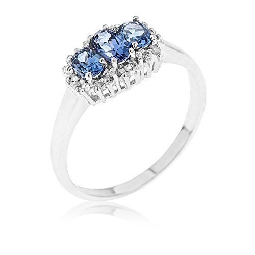 Bague - Z - RS9466TAND - Femme - Or blanc (9 carats) 1.7 Gr - Tanzanite