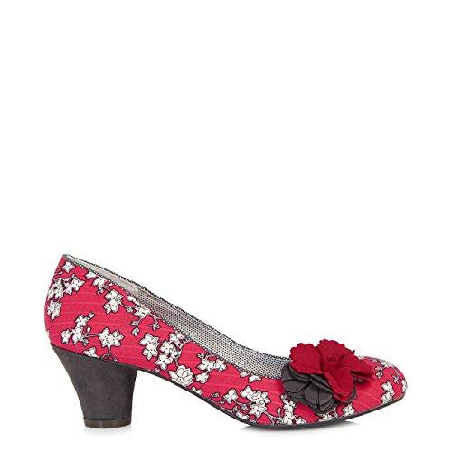 Shoe Samira Charcoal Matching Court amp; Pumps Heel Bag Mid Pisa Shoo Women's Red Ruby qxpnTUYa